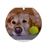 Golden retriever Round Ornaments