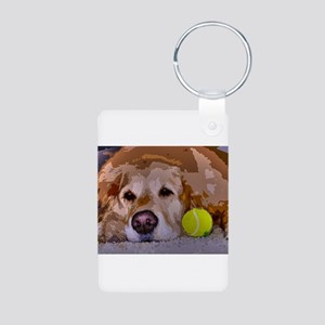 Golden Moment Aluminum Photo Keychain
