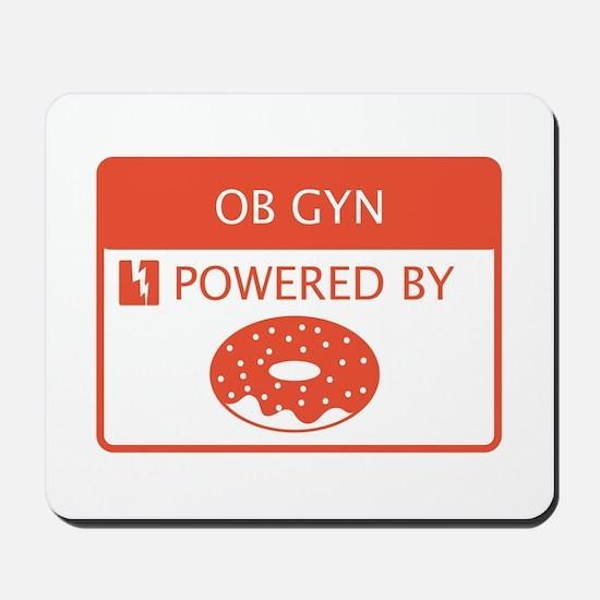 OB GYN Powered by Doughnuts Mousepad