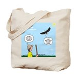 Hiking with an Eagle Tote Bag