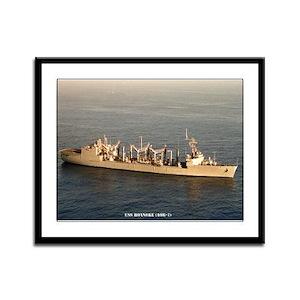 USS ROANOKE Framed Panel Print