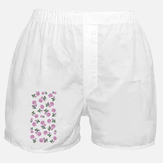 Shabby Chic Pink Floral Boxer Shorts
