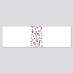 Shabby Chic Pink Floral Sticker (Bumper)