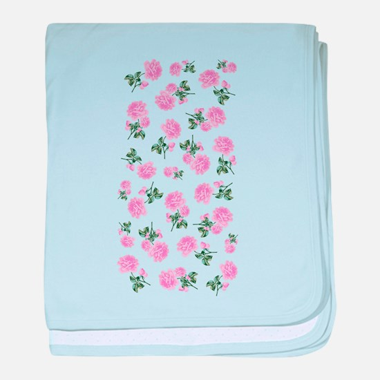 Shabby Chic Pink Floral baby blanket