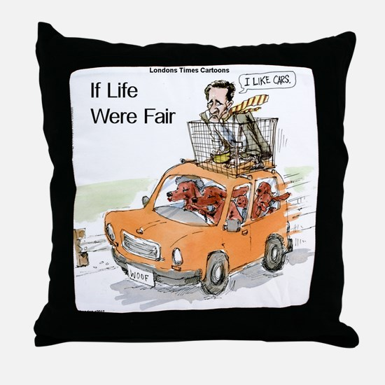 Romney Vs Irish Setters Throw Pillow