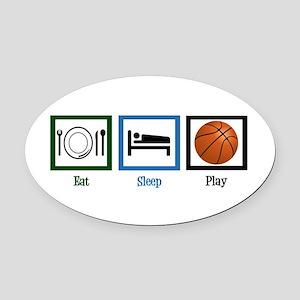 Eat Sleep Basketball Oval Car Magnet