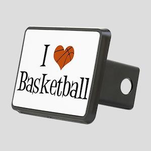 I Heart Basketball Rectangular Hitch Cover