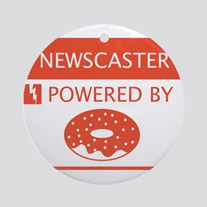 Newscaster Powered by Doughnuts Ornament (Round)