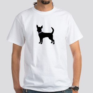 Black bling chihuahua White T-Shirt
