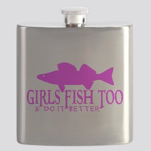 WALLEYE GIRL Flask