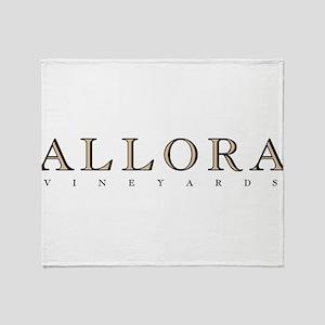 Allora Logo WHT Throw Blanket