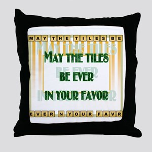 LetterTiles Throw Pillow
