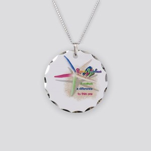 It Makes a Difference Necklace Circle Charm