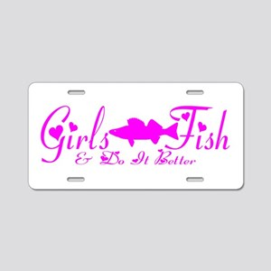 WALLEYE GIRL Aluminum License Plate