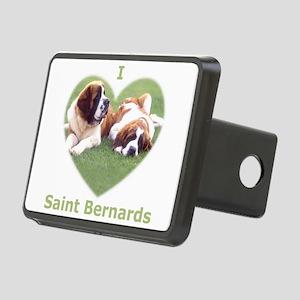 I Love St Bernard Dogs Rectangular Hitch Cover