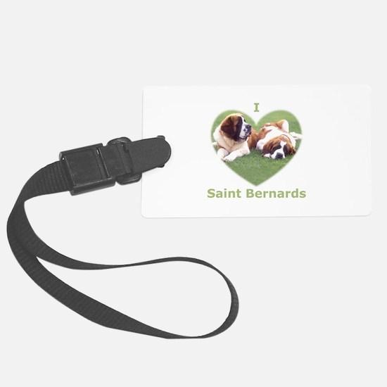 I Love St Bernard Dogs Luggage Tag