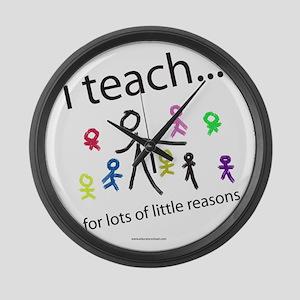 teach4them Large Wall Clock