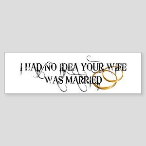 Unsure Married Sticker (Bumper)