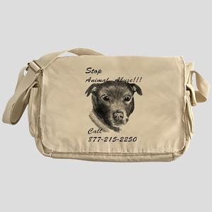 STOP ANIMAL ABUSE Messenger Bag