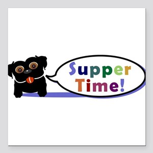 """supperTime Square Car Magnet 3"""" x 3"""""""