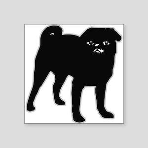 "blackpug Square Sticker 3"" x 3"""