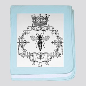 Vintage Queen Bee baby blanket