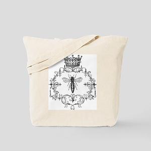 Vintage Queen Bee Tote Bag