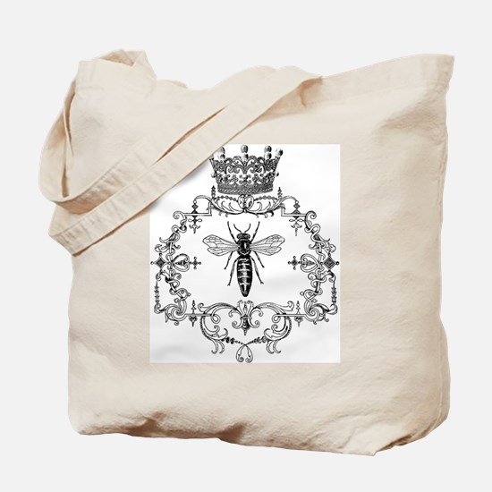 Vintage Queen Bee Tote Bag