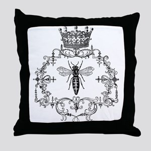 Vintage Queen Bee Throw Pillow