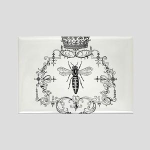 Vintage Queen Bee Rectangle Magnet