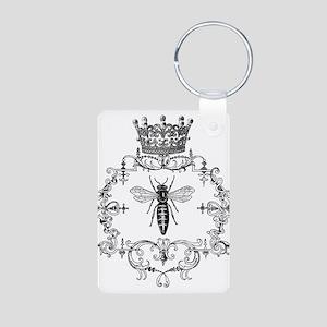 Vintage Queen Bee Aluminum Photo Keychain