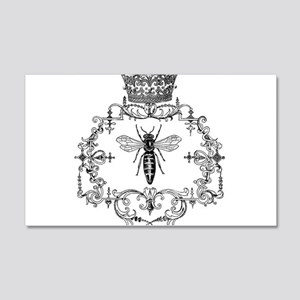Vintage Queen Bee 20x12 Wall Decal