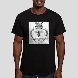Vintage Queen Bee Men's Fitted T-Shirt (dark)