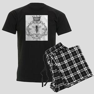 Vintage Queen Bee Men's Dark Pajamas