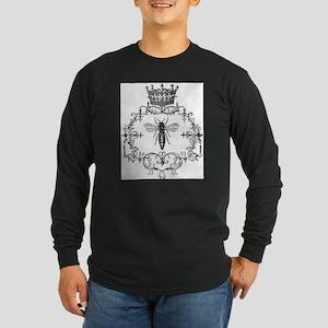 Vintage Queen Bee Long Sleeve Dark T-Shirt
