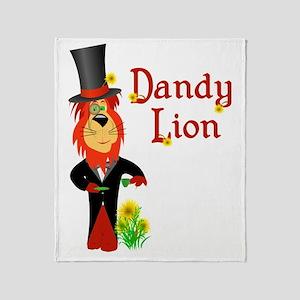 Dandy Lion Throw Blanket
