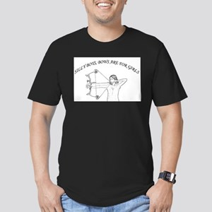 Bows are for girls Men's Fitted T-Shirt (dark)