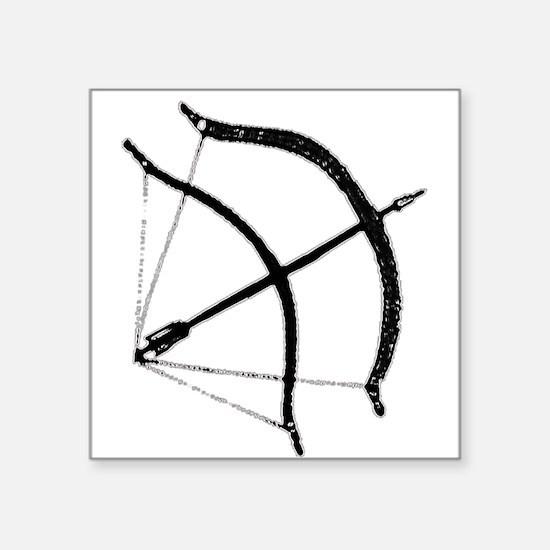 "DH Bow Square Sticker 3"" x 3"""