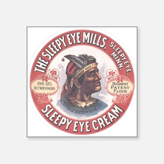 "CHIEF SLEEPY EYE 2B Square Sticker 3"" x 3"""
