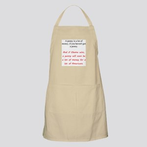 A Penny Is a Lot Apron