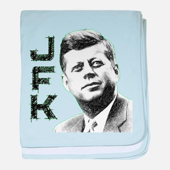 JFK Sketch baby blanket