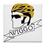wiggo_blackyellow_3 Tile Coaster