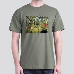 Henri Rousseau tiger in a tropical storm Dark T-Sh
