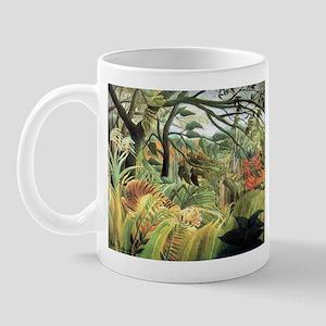 Henri Rousseau tiger in a tropical storm Mug