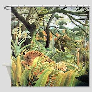 Henri Rousseau tiger in a tropical storm Shower Cu