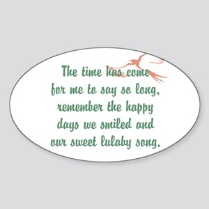 TheEulogyWeb: Lulaby Song design #2 Sticker (Oval)