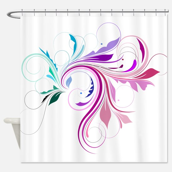 flourish.png Shower Curtain