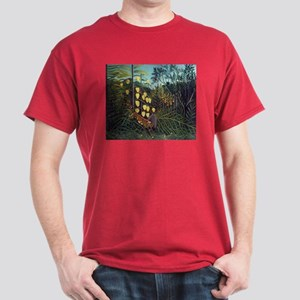 Henri Rousseau Tiger and Buffalo Dark T-Shirt