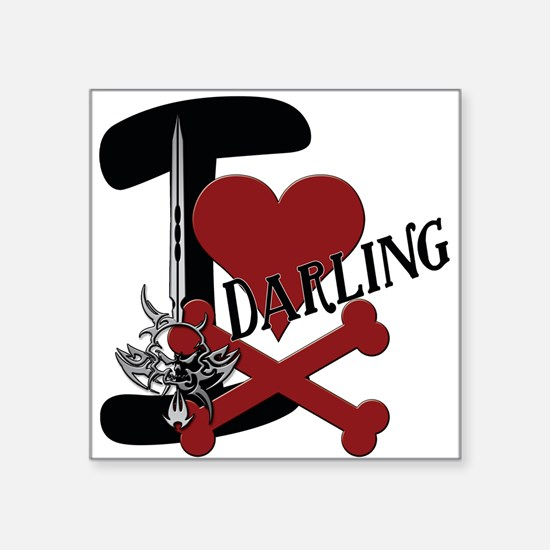 "Darling Square Sticker 3"" x 3"""