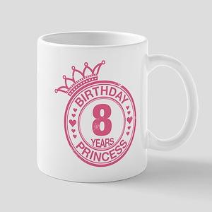 Birthday Princess 8 years Mug